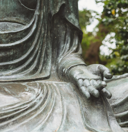 Picture of Buddha statue's hand