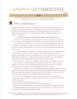 Thumbnail of the Let's Meditate PDF